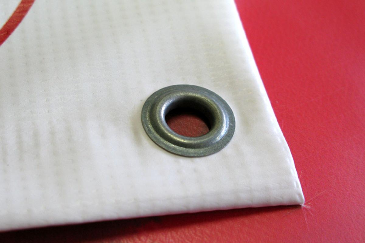 Как сделать брезент с кольцами